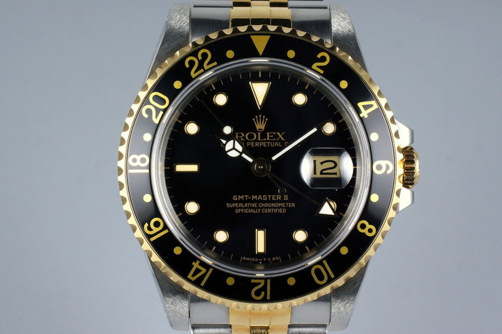 1989 Rolex Two Tone GMT II 16713 with Box and Papers photo