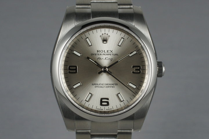 2014 Rolex Air-king 114200 with Box and Papers photo