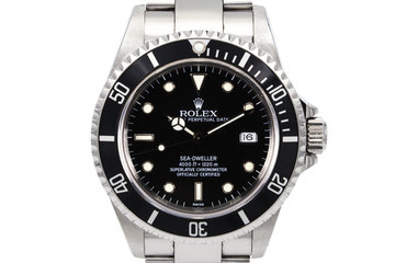 1999 Rolex Sea Dweller 16600 with uncommon SWISS only Dial photo