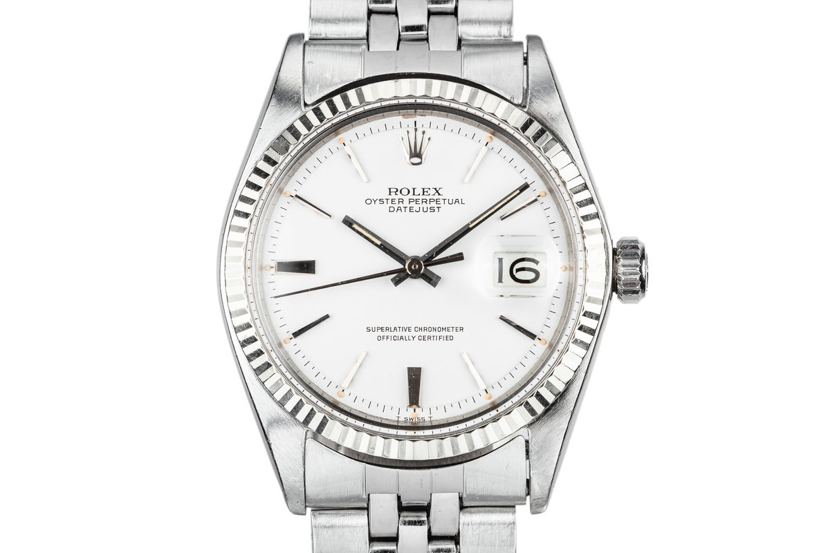 1968 Rolex DateJust 1601 White Dial photo, #0