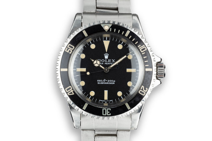 1970 Rolex Submariner 5513 Serif Dial with Service Papers photo