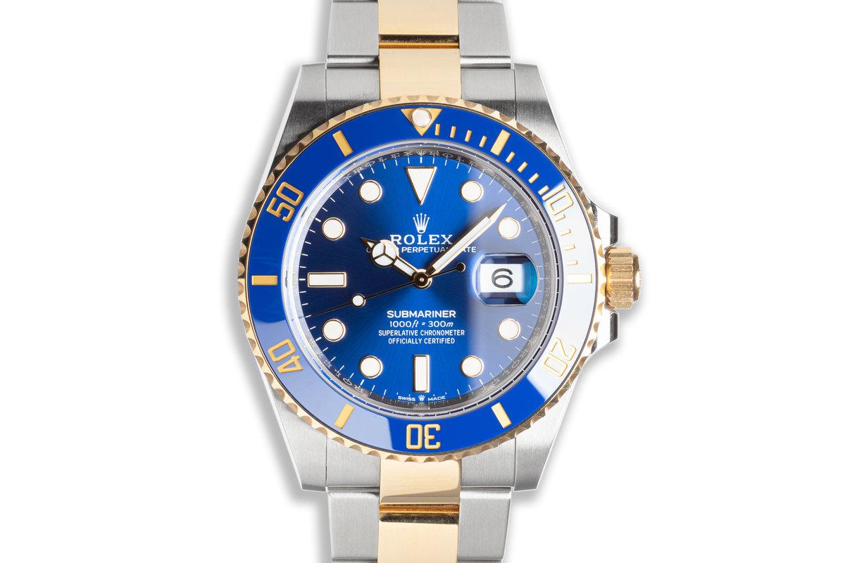 2021 41mm Rolex Submariner 126613LB Ceramic Metallic Blue Dial with Box & Card photo, #0