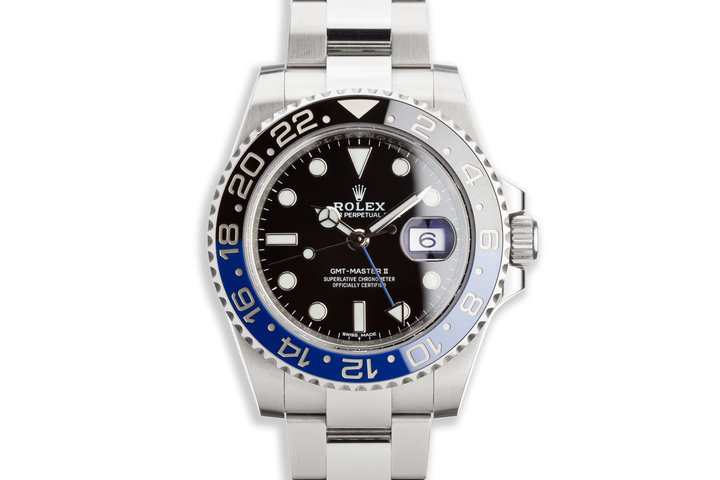 """2017 Rolex GMT-Master II 116710BLNR """"Batman"""" with Box and Card photo"""