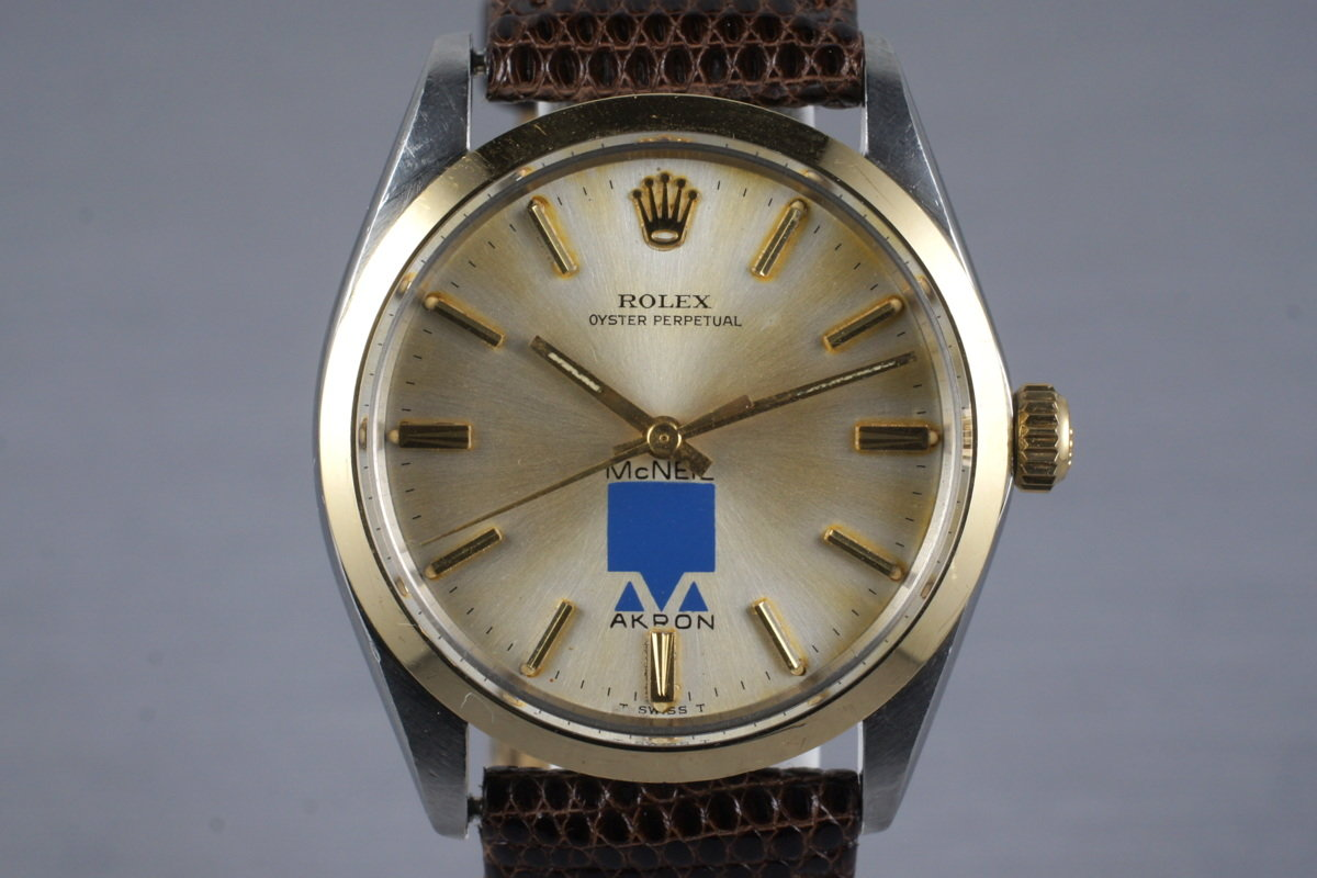 1966 Rolex Two Tone Oyster Perpetual 1002 with McNeil Akron Logo Dial photo, #0