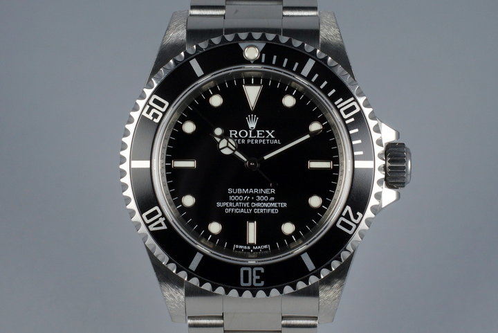 2010 Rolex Submariner 14060M with 4 Line Dial photo