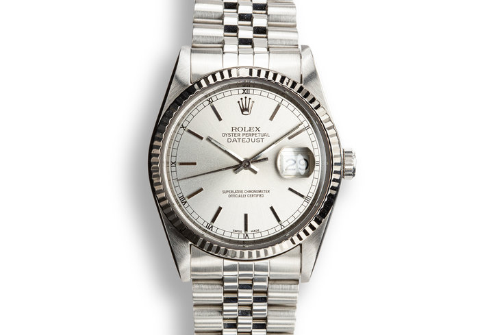 1987 Rolex DateJust 16234 Silver Dial with Box photo