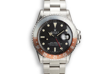 "1971 Rolex GMT-Master 1675 ""Crimson Ghost"" with Box and Double Punch Papers photo"