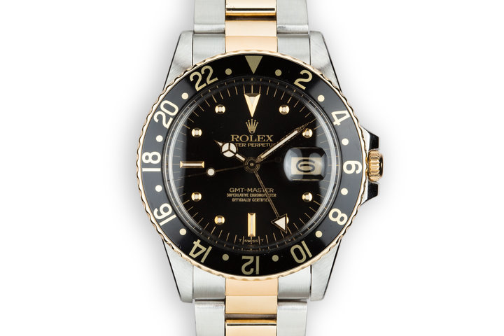 1979 Rolex Two-Tone GMT-Master 16753 Black Nipple Dial photo
