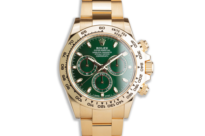 2020 Rolex 18K YG Daytona 116508 Green Dial with Box & Papers photo