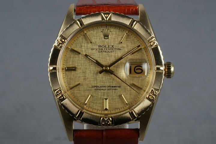 1979 Rolex 18K YG DateJust Thunderbird 1625 photo