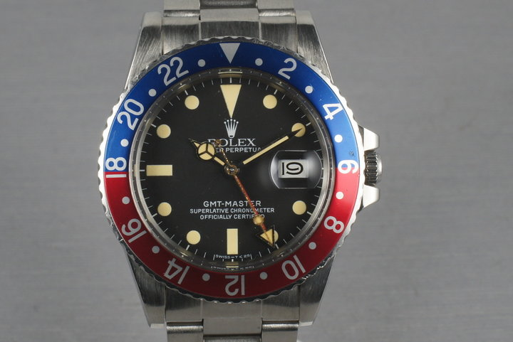 1983 Rolex GMT 16750 with Box and papers with creamy lume photo
