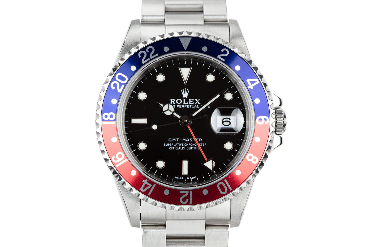 """1999 Rolex GMT-Master 16700 """"Pepsi"""" with Service Papers photo, #0"""