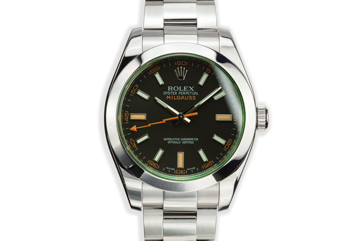 2009 Rolex Milgauss 116400V Black Dial with Box and Papers photo
