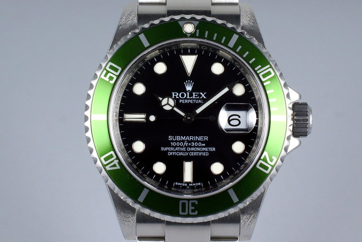 2009 Rolex Green Submariner 16610V with Box and Papers photo