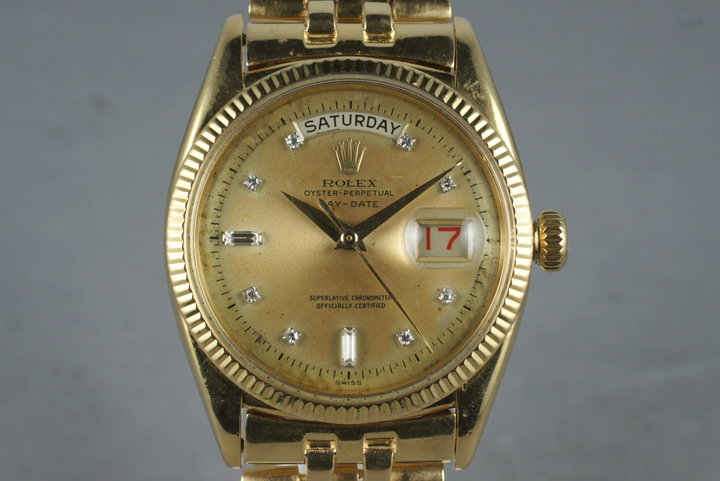 1956 Rolex 18K Day-Date 6611 Diamond Dial with RSC Papers photo