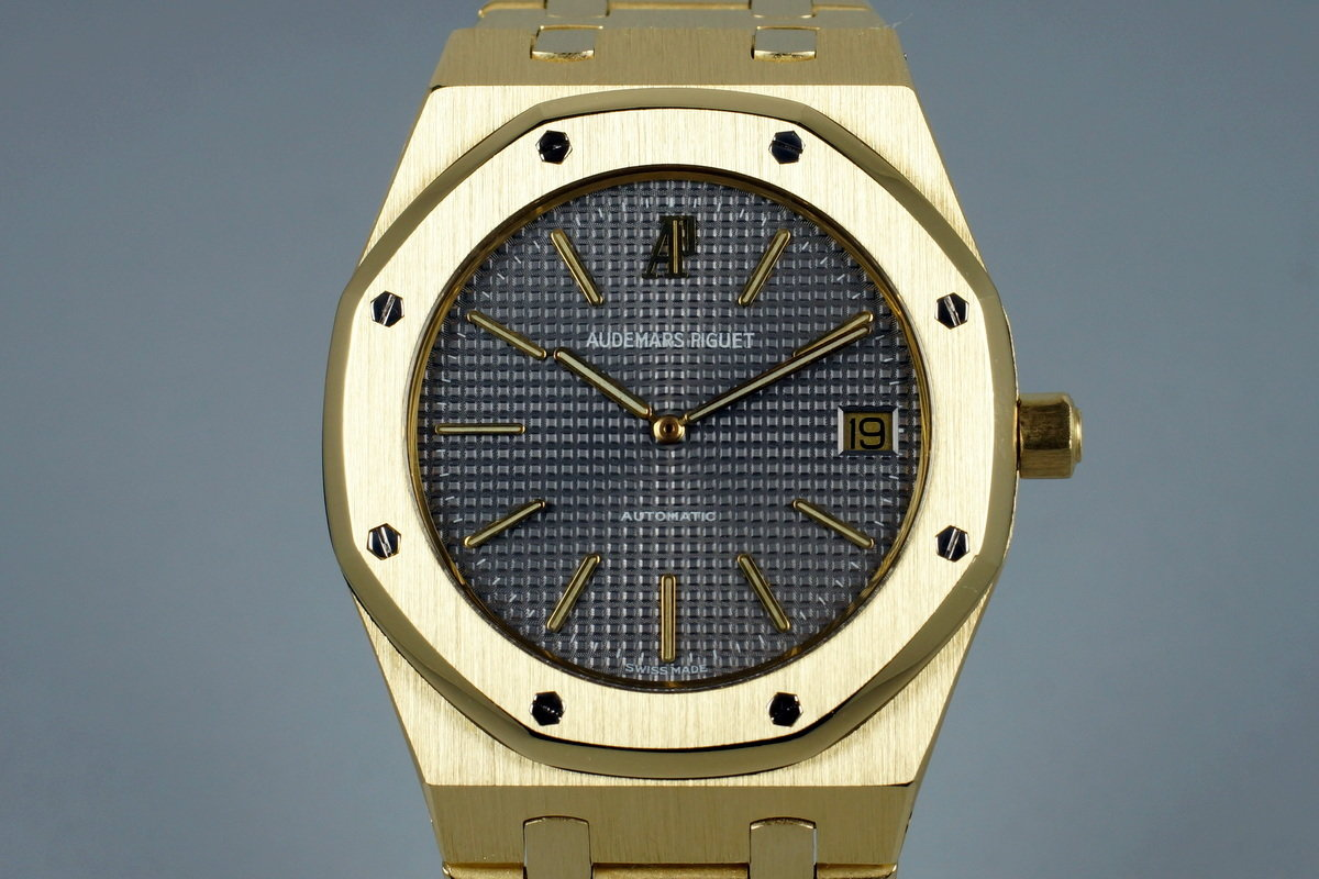 Late 1970's YG Audemars Piguet 5402BA with Box and Service Papers photo, #0