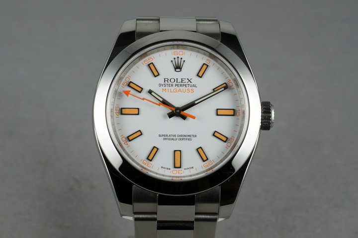 2007 Rolex Milgauss 116400 with Box and Papers photo