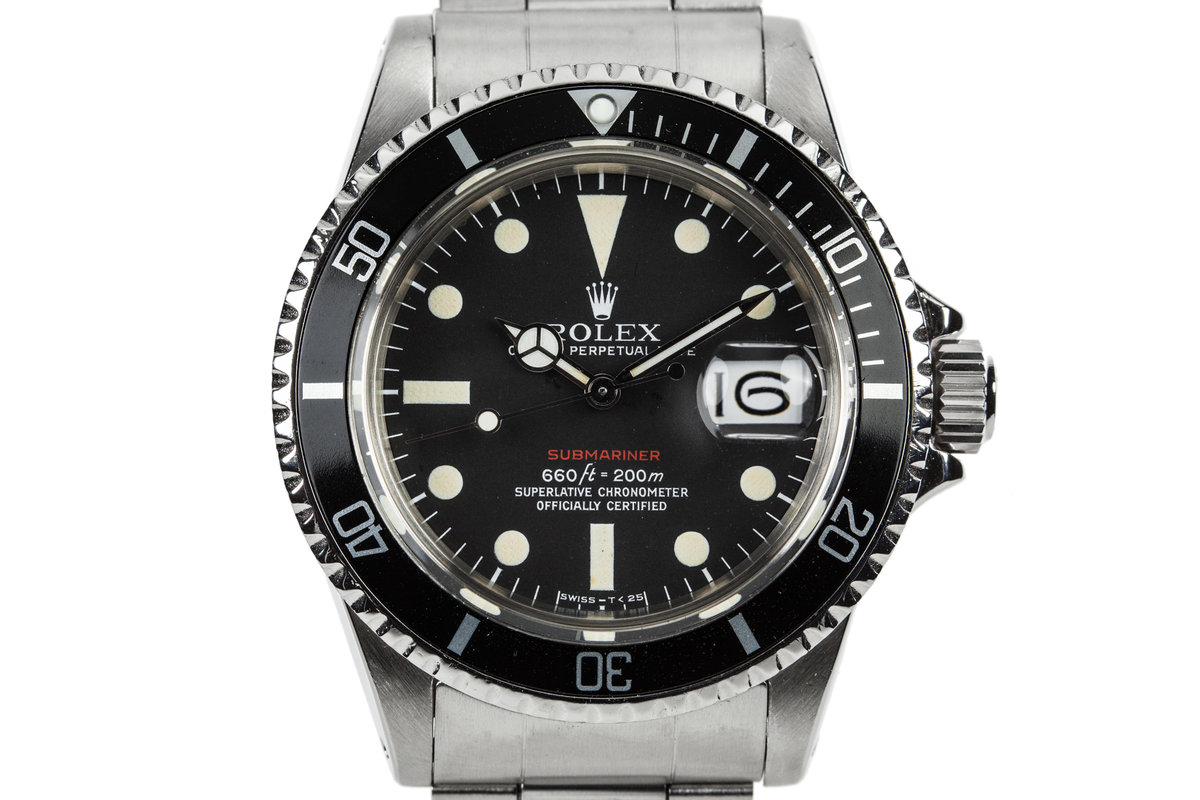 1971 Rolex Submariner 1680 with MK V Red Dial with Service papers photo, #0