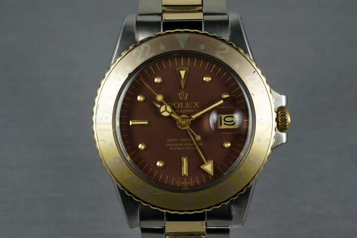 1972 Rolex Two Tone GMT 1675 with Root Beer Dial photo