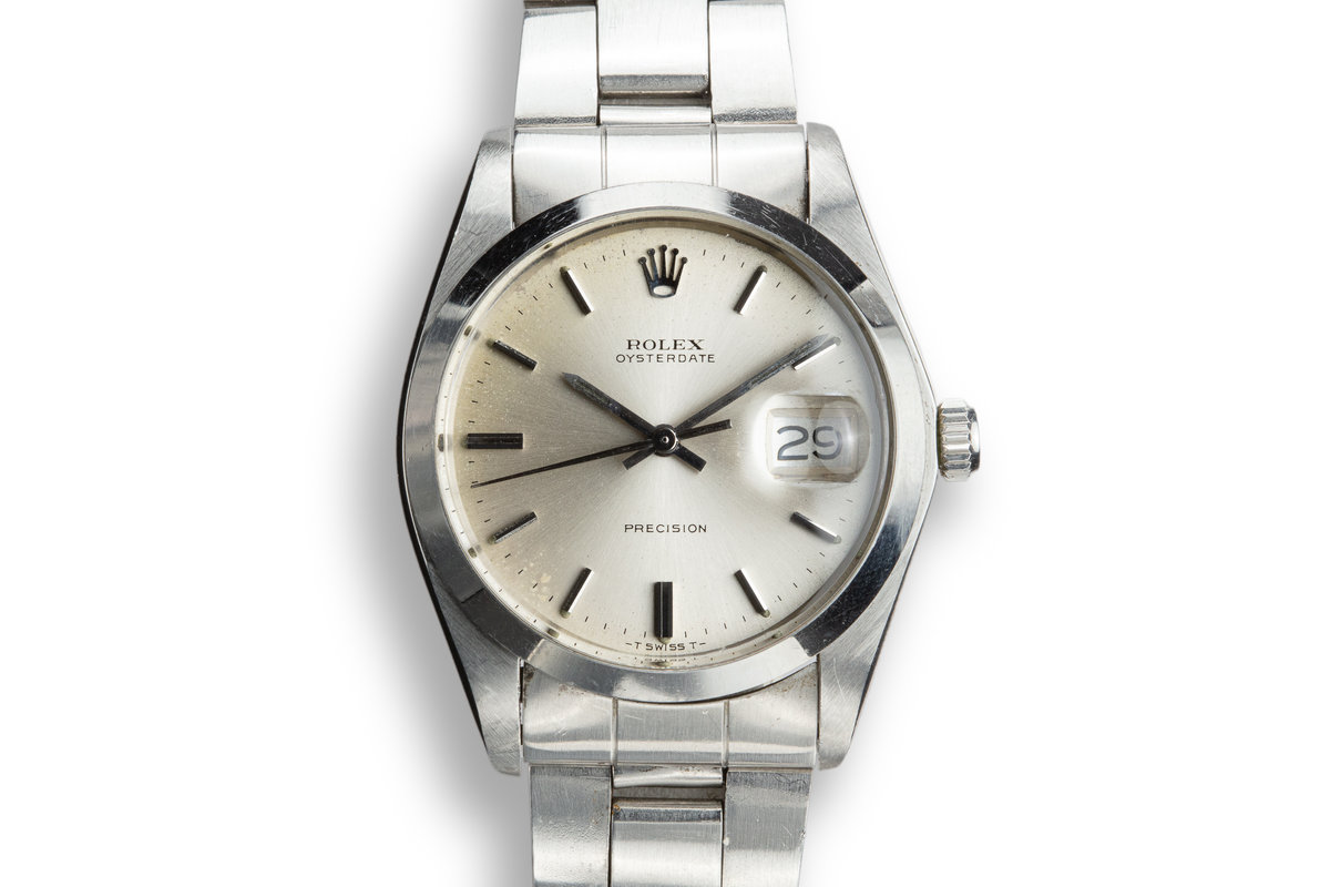 1973 Rolex OysterDate 6694 Silver Dial photo, #0