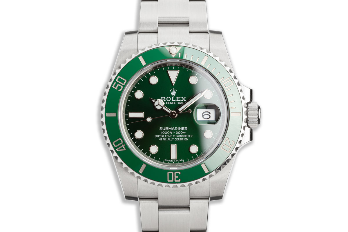 "2019 Rolex Green Submariner 116610LV ""Hulk"" with Box & Card photo, #0"