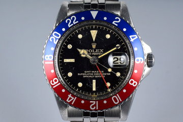 1960 Rolex GMT 1675 PCG Gilt Chapter Ring photo