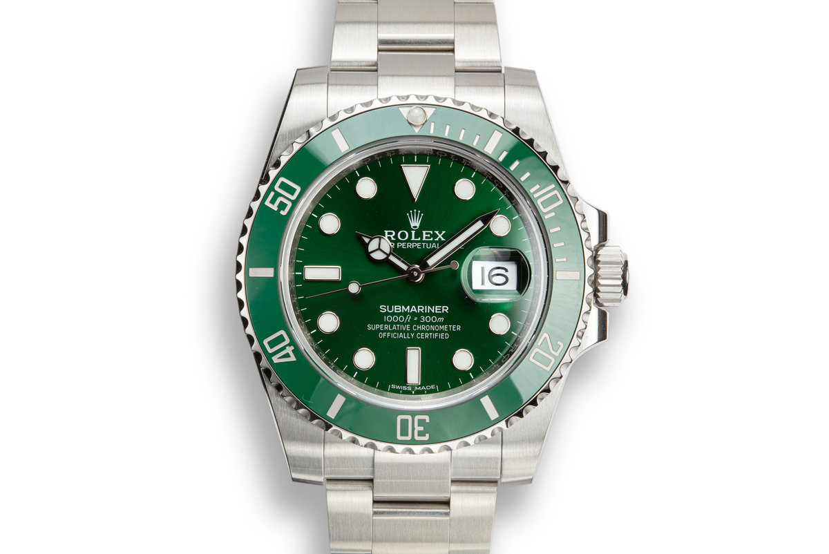 """2018 Rolex Green Submariner 116610LV """"Hulk"""" with Box and Papers photo, #0"""