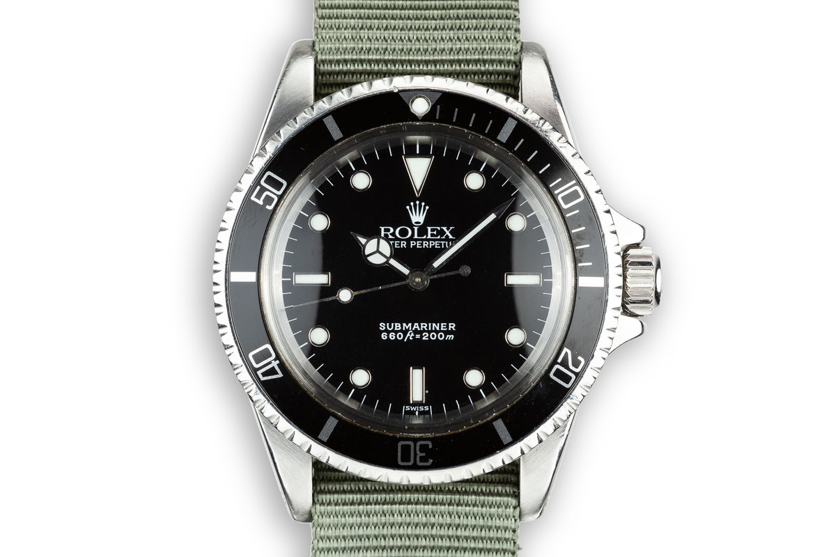 1968 Rolex Submariner 5513 with SWISS Only Service Dial photo, #0
