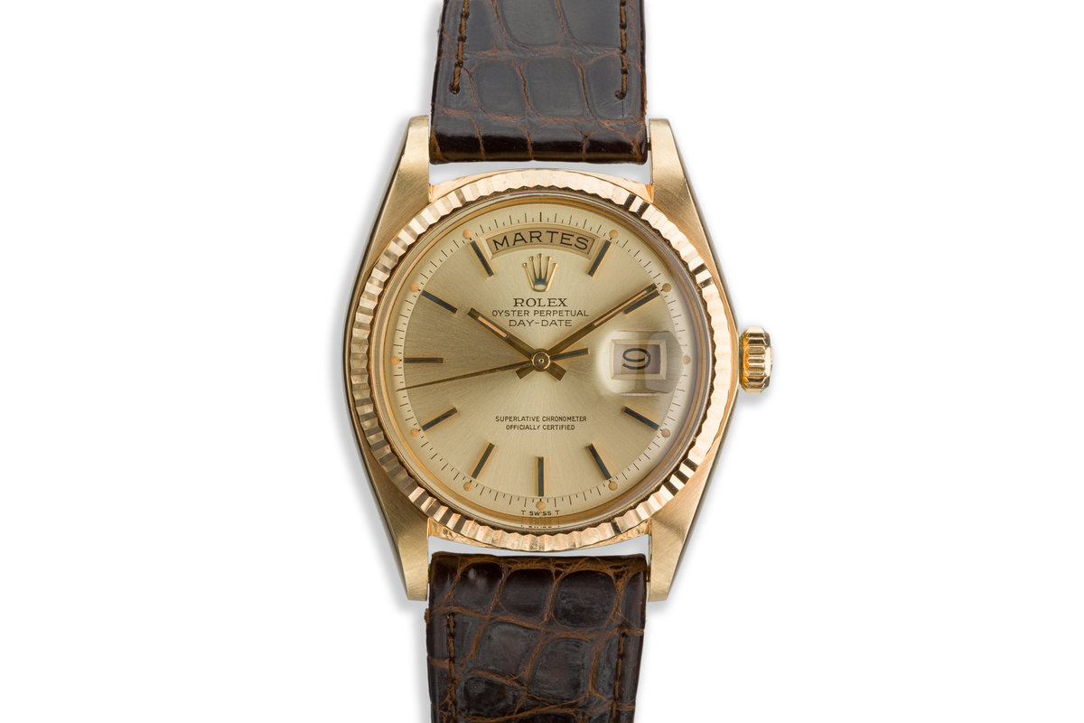 1974 Rolex 18K YG Day-Date 1803 Gold Dial photo, #0