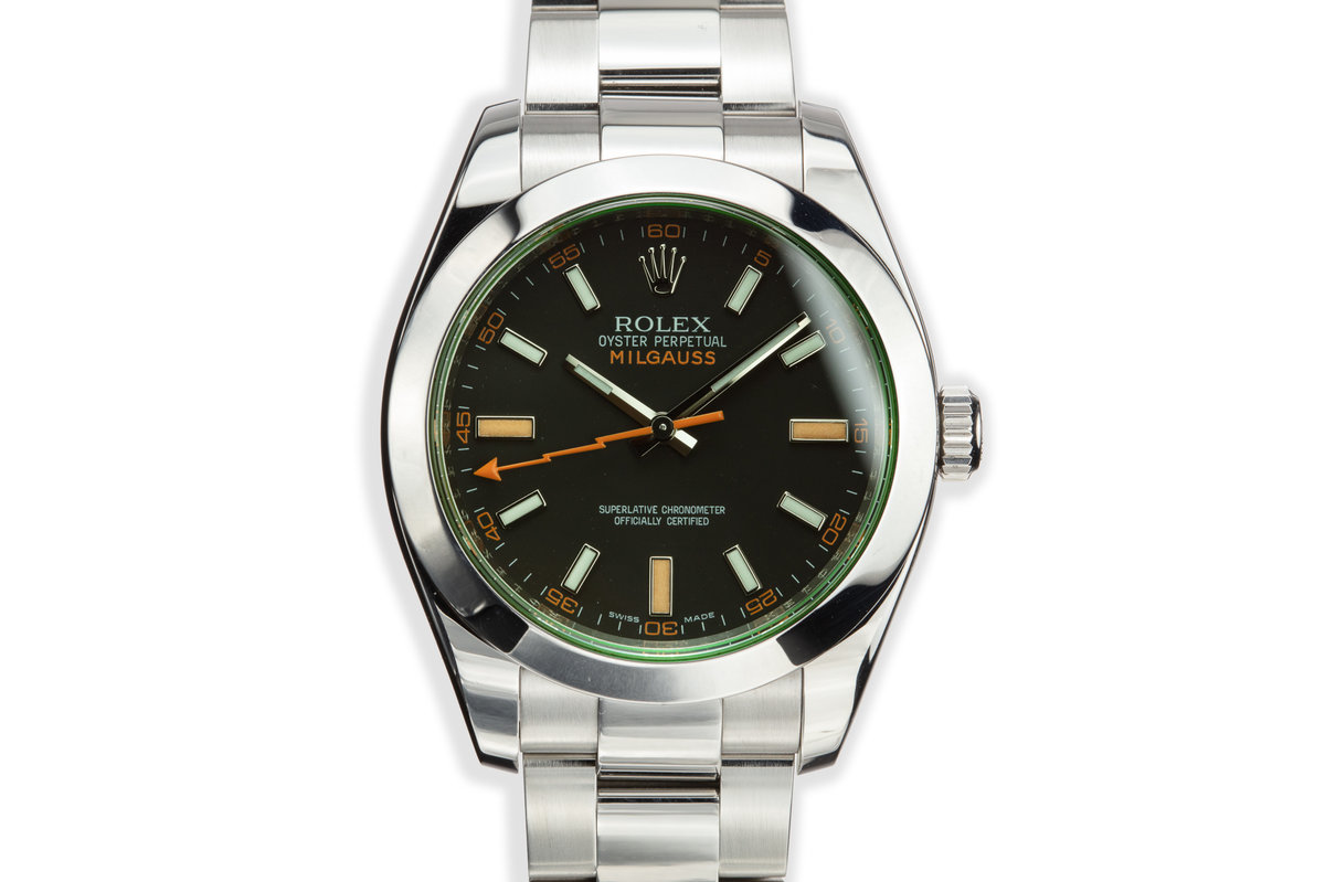 2009 Rolex Milgauss 116400V Black Dial with Box and Papers photo, #0