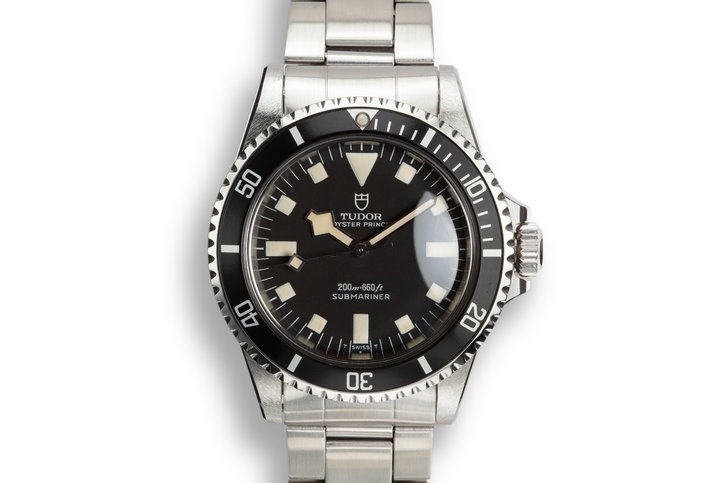 1970 Tudor Snowflake Submariner 7016/0 Black Dial with Box photo