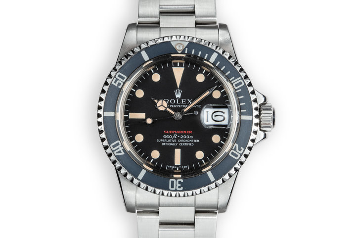 1972 Rolex Red Submariner 1680 MK IV Dial photo