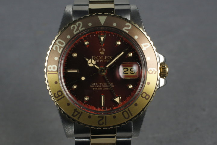 1985 Rolex 18K/SS GMT 16753 photo