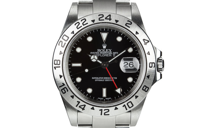 2001 Rolex Explorer II 16570 with Black Dial photo