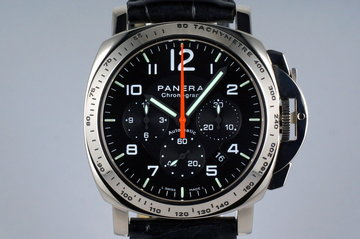2002 Panerai PAM 105 White Gold Chrono with Box and Papers photo
