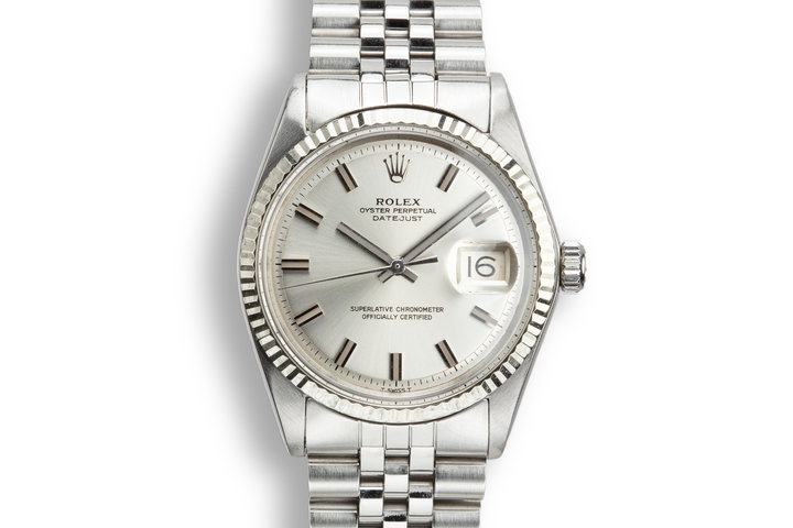 1970 Rolex DateJust 1601 with No Lume Wide Boy Dial photo