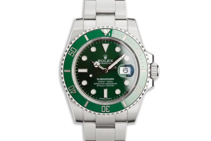 "2020 Rolex Green Submariner 116610LV ""Hulk"" with Box, Card photo"