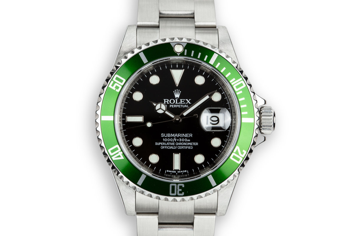 2007 Rolex Green Submariner 16610 T with Box photo, #0