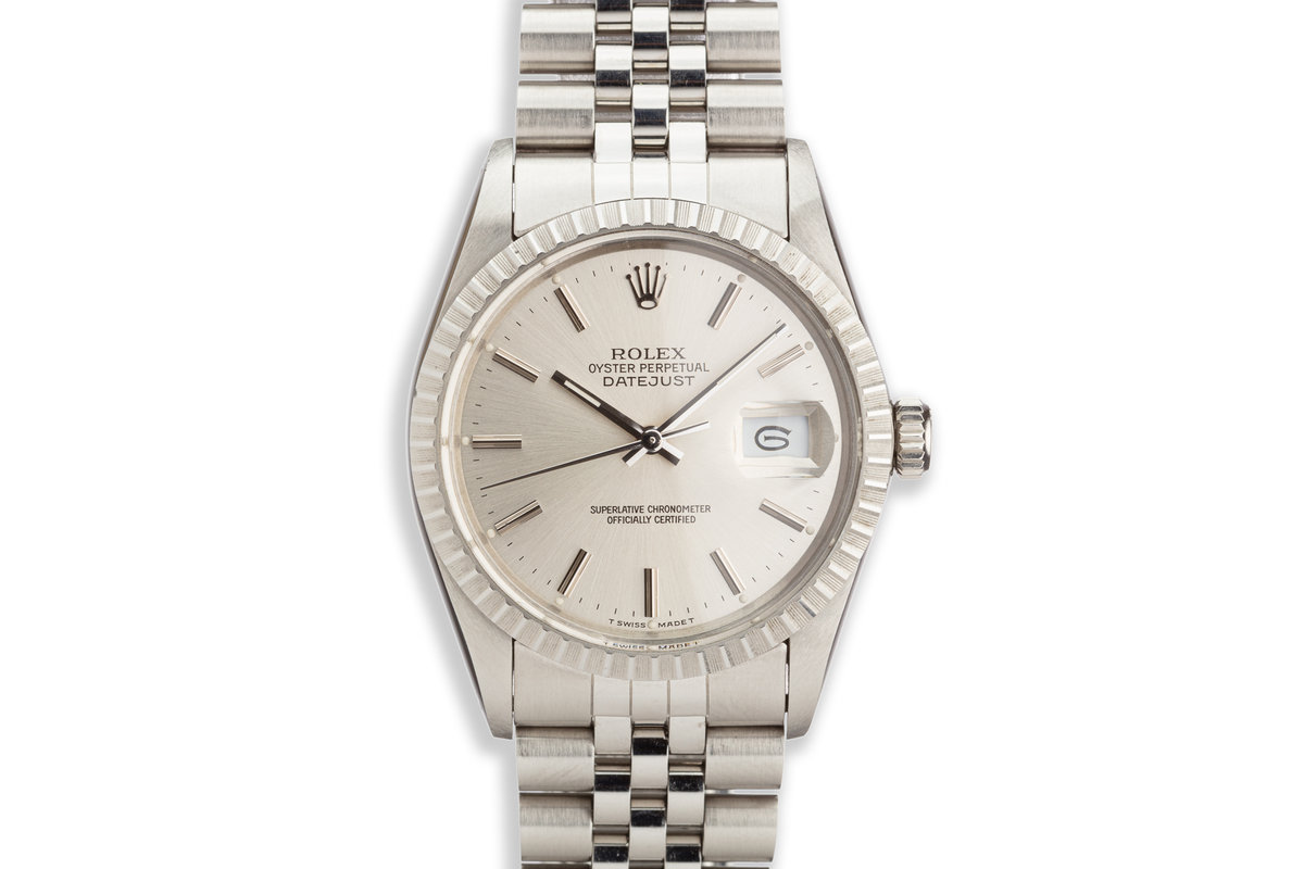 1987 Vintage Rolex DateJust 16030 Silver Dial Box and Papers photo, #0