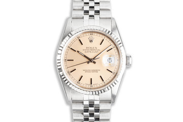 1995 Rolex Unpolished Case DateJust 16234 with Silver Patina Dial photo