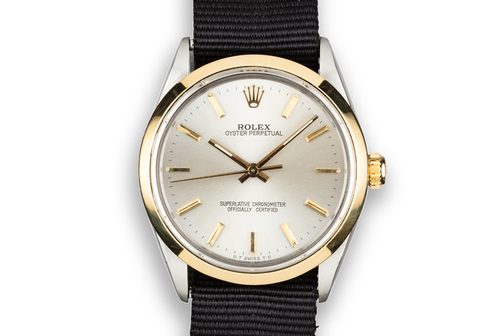 1987 Rolex Two-Tone Oyster Perpetual 1002 with Silver Sigma Dial photo