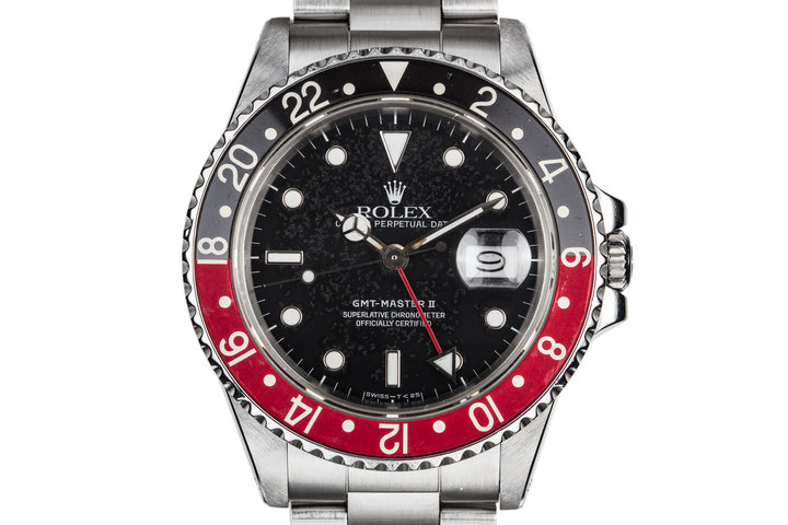 """1988 Rolex GMT-Master II 16760 """"Fat Lady"""" with Static Patina Dial and """"Coke"""" Insert photo"""