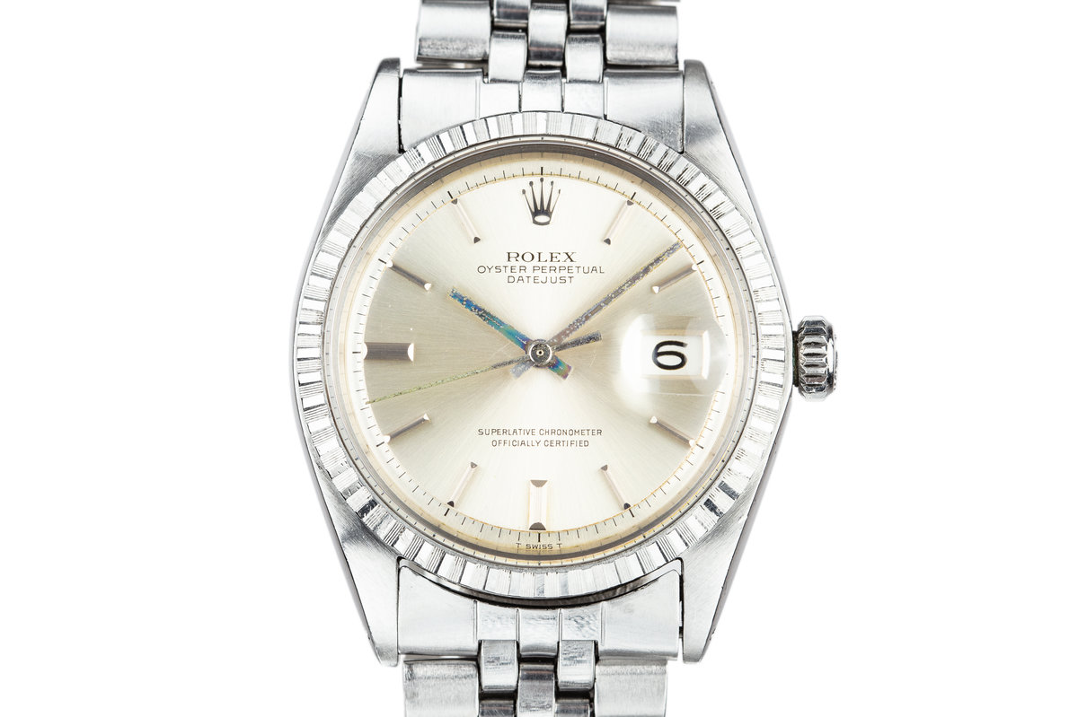 1968 Rolex DateJust 1603 with No Lume Silver Dial photo, #0