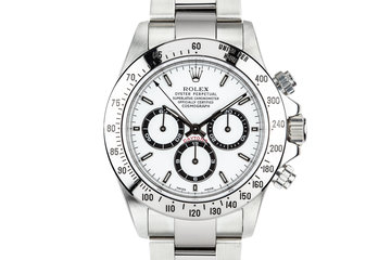 1999 Rolex Daytona 16520 White Dial with Box, Papers, and Service Papers photo