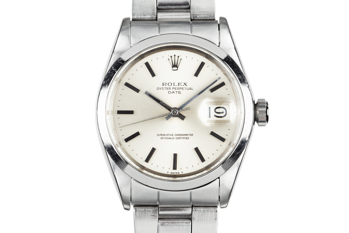 1970 Rolex Date 1500 Silver Dial photo, #0