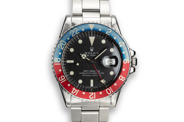 1971 Rolex GMT-Master 1675 with Box and Double Punch Papers photo