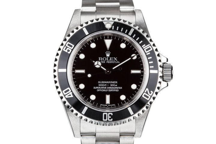 2009 Rolex Submariner 14060  4 Line Dial with Box and Papers photo