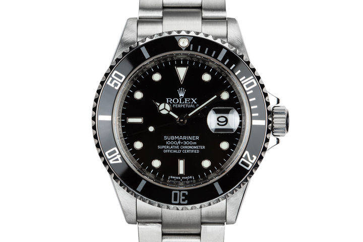 2007 Rolex Submariner 16610 with Box and Papers photo
