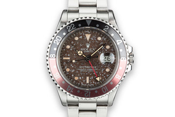 """1985 Rolex GMT-Master II 16760 """"Fat Lady"""" with """"Martian Soil"""" Dial photo"""