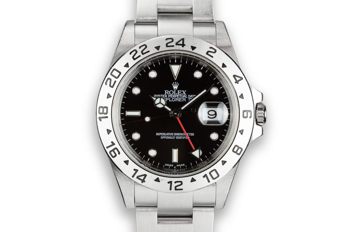 2002 Rolex Explorer II 16570 Black Dial with Box and Papers sold at Serpico Y Laino photo